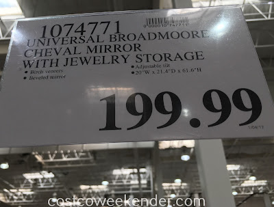 Deal for the Universal Broadmoore Furniture Cheval Mirror at Costco