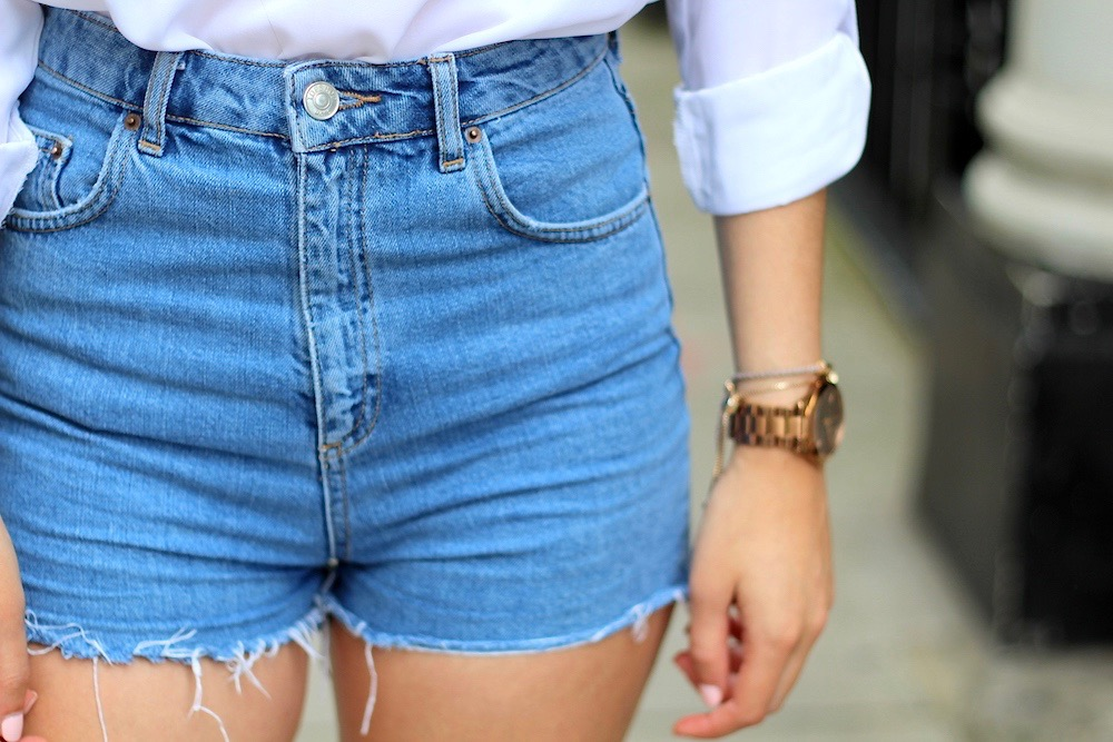 girlfriend shorts topshop
