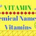 Chemical names of vitamins