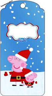 Para marcapáginas de  Peppa Pig en Navidad.