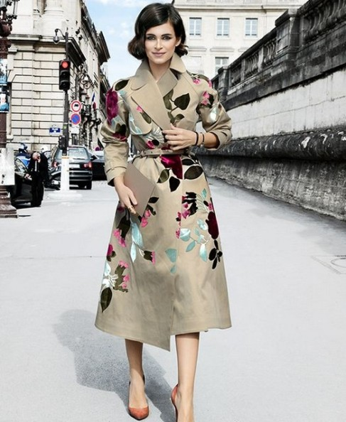 Fashionable Belted Print Trench Coat - Regular price $159.95 USD ---$49.99 USD Sale