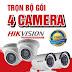 Lắp Đặt Trọn Bộ 4 Camera Giá Rẻ - Bảo hành 24 tháng