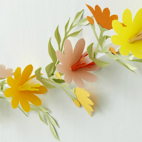 Papercut Floral Garland
