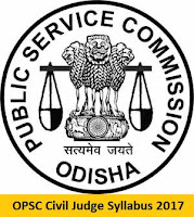 OPSC Civil Judge Syllabus 2017