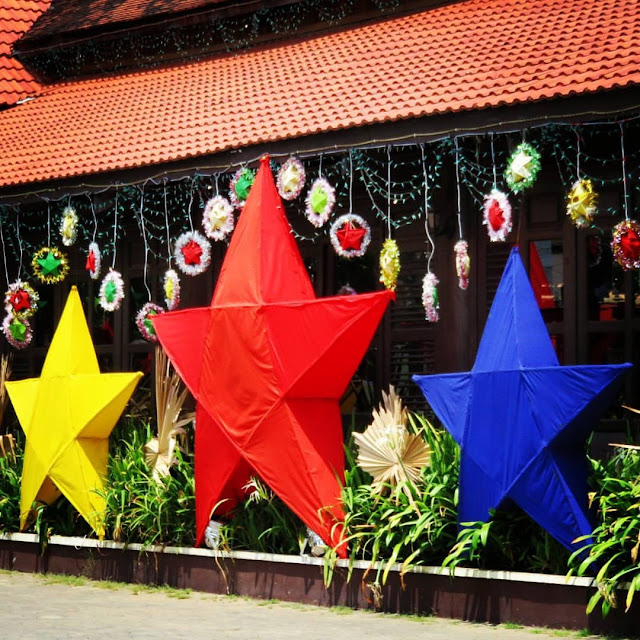 Khmer New Year decorations in Siem Reap Cambodia