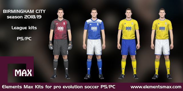 Birmingham City PES Kits 2018/19