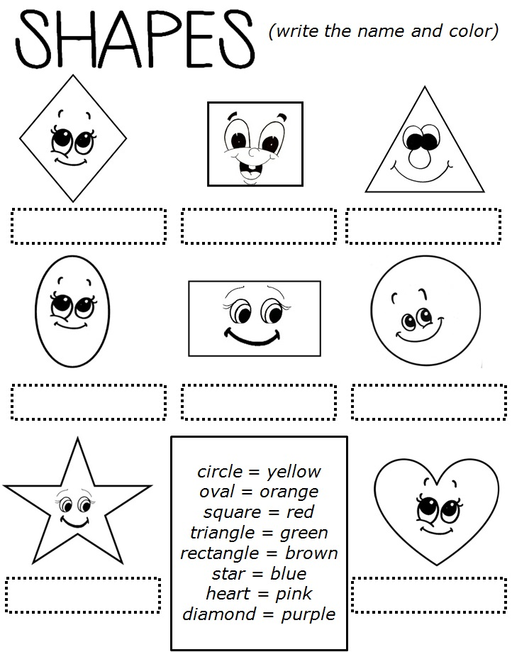 Printable Worksheets shapes worksheets pdf : Enjoy Teaching English: SHAPES (worksheet)