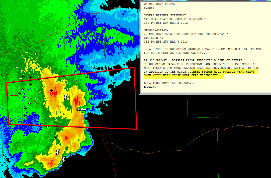 The Original Weather Blog: Severe Thunderstorm Warning with Heavy