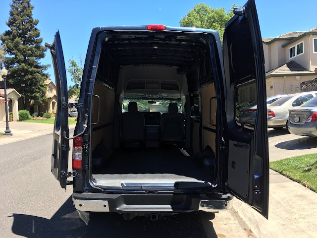 Rear view of 2016 Nissan NV 3500 High Roof