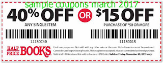 Half Price Books coupons for march 2017