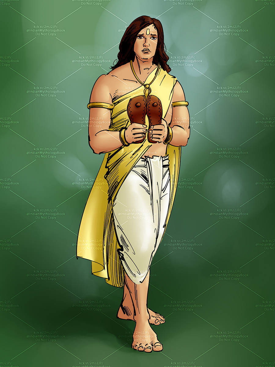 prince, king and hero illustration for indian mythology illustrated picture book