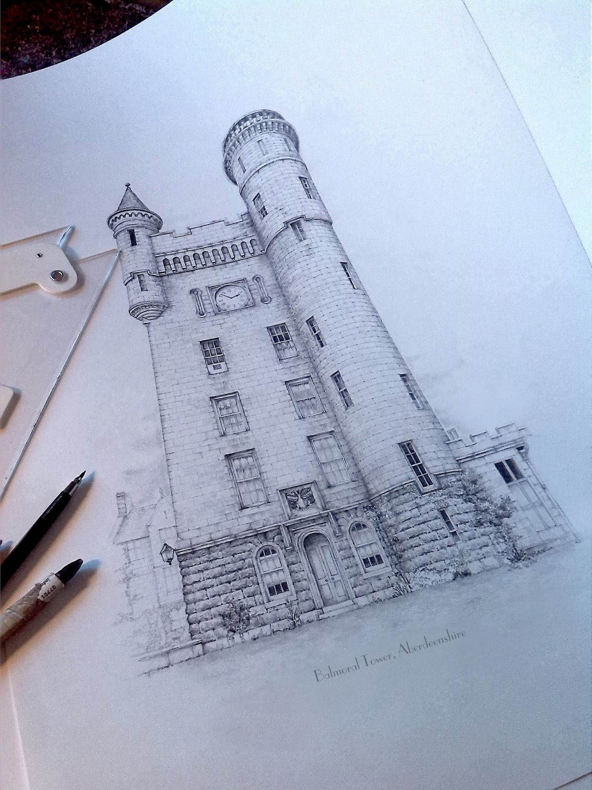 04-Balmoral-Tower-Aberdeenshire-Jamie-Cameron-Intricate-Architectural-Drawings-and-Illustrations-www-designstack-co