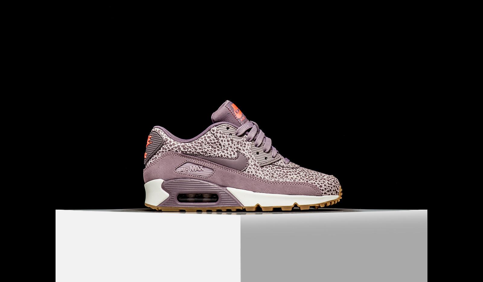 Nike Air Max 90 PRM Premium Safari Black White 443817 006 Mens Womens Running Shoes 443817 006