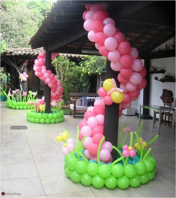 Interior Designs Using Colorful Balloons 10