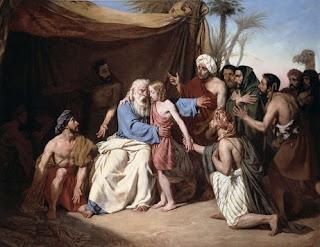 Nomes bíblicos estrangeiros masculinos com B - Imagem: Jacó e Benjamim - Eugene Roger