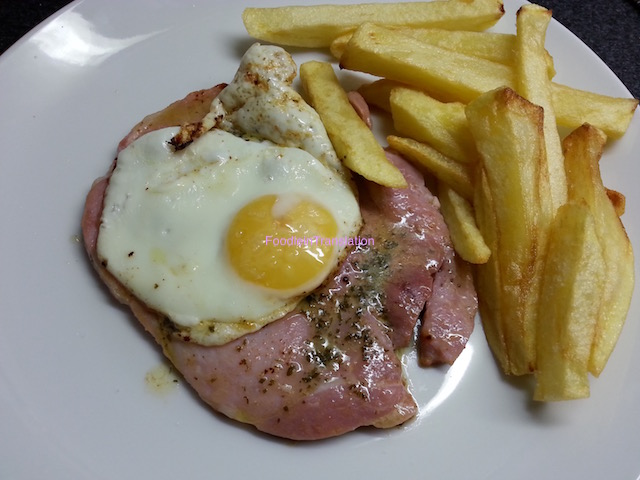 La Rubrica del Venerdì: Gammon Steak with Fried Egg & Chips - Friday's Page: Gammon Steak with Fried Egg & Chips