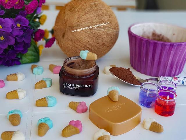 loreal şeker peelingi blog
