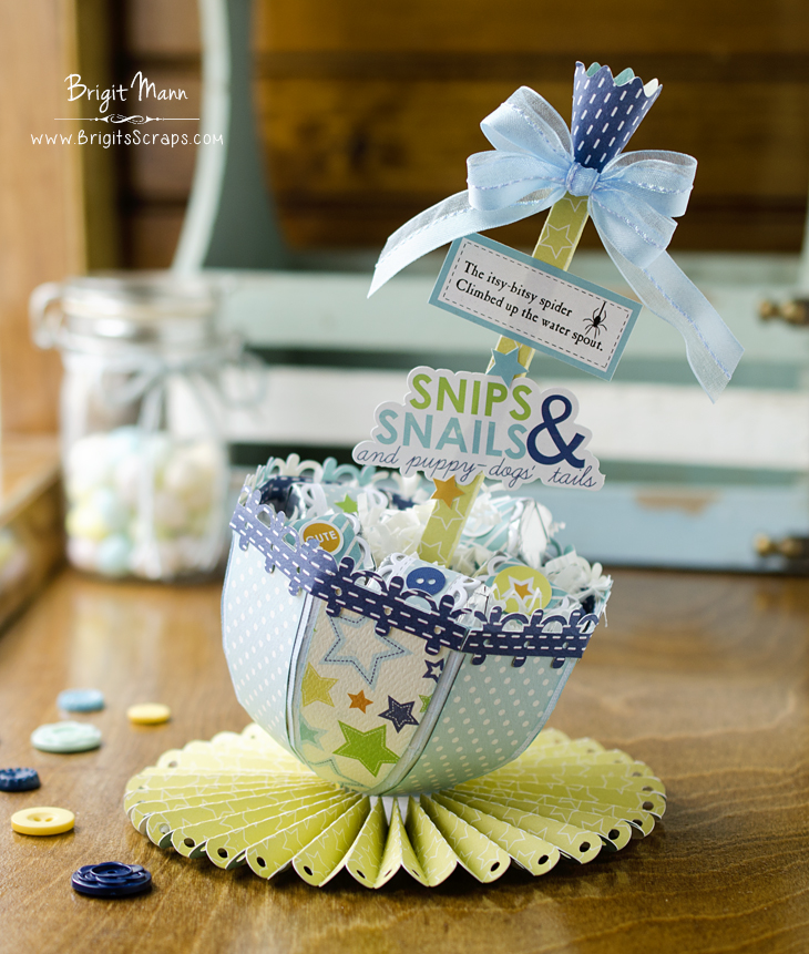 Baby Shower Umbrella Treat Centerpiece   Dreaming Tree
