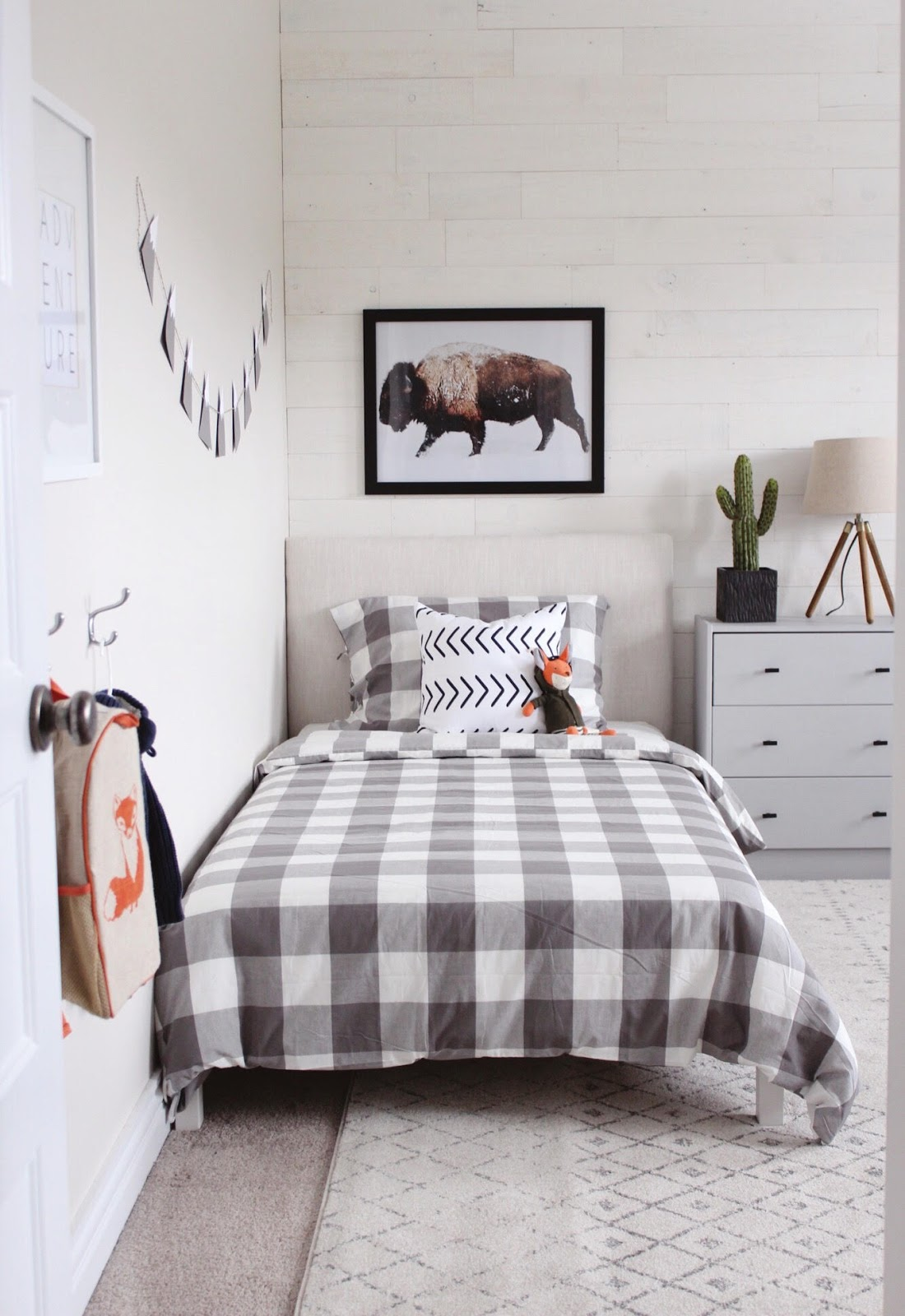 Modern Rustic Boys Bedroom- One Room Challenge THE REVEAL ...