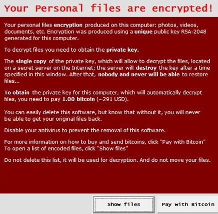 CryptoLocker Ransomware Security Threat to Computer Systems