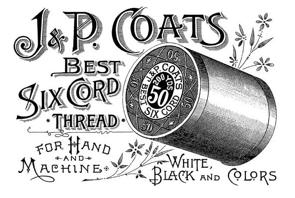 Vintage Thread Advertisment from The Graphics Fairy