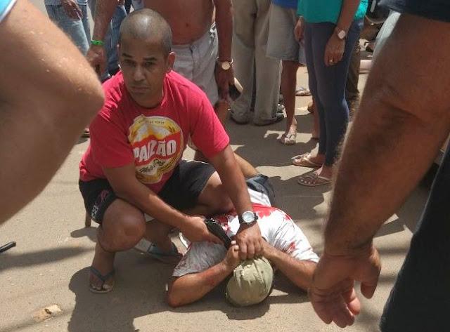 Bárbaro e Brutal! Ex-marido ciumento mata mulher no meio da rua em Jaru [Fotos]