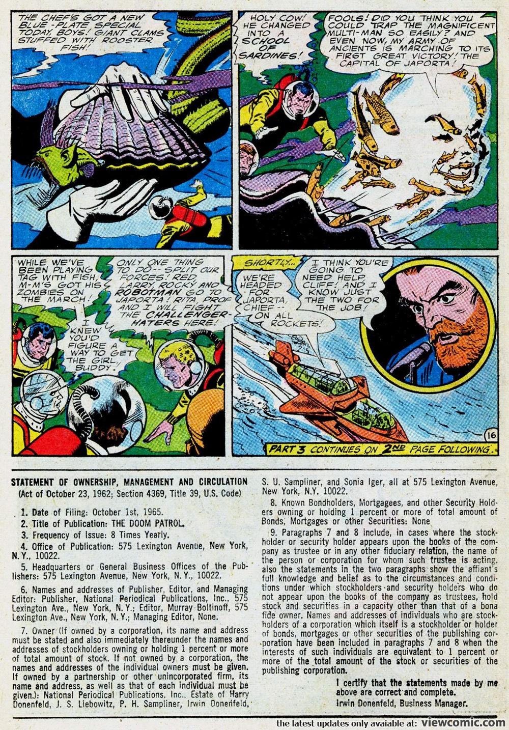 Doom Patrol v1 102b | Reading Comics Online For Free