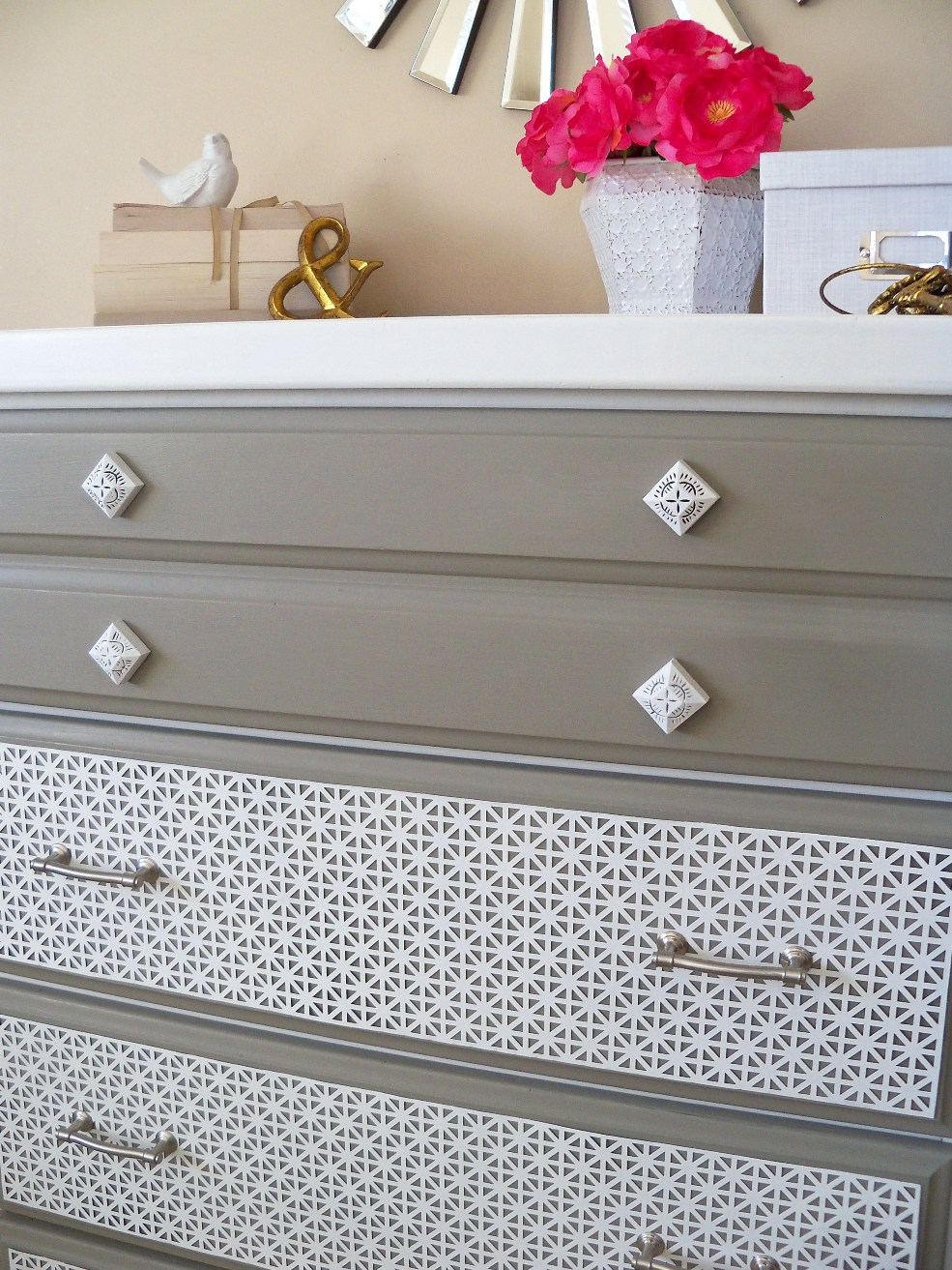 New Twist On An Old Dresser With Sheet Metal My Sister