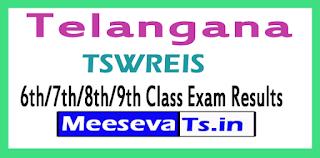 TSWREIS 6th/7th/8th/9th Class Exam Results