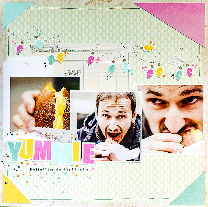 Stephanie Berger - Scrapbooking - Layout - Poffertjies - Amsterdam