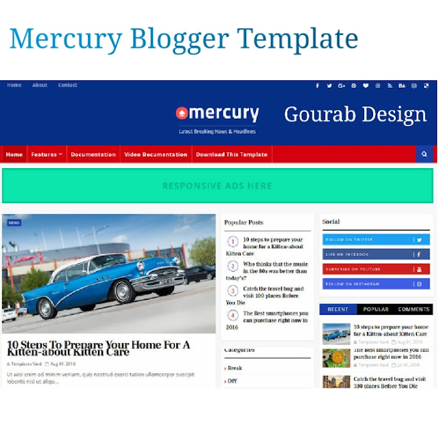 Mercury-News Magazine Blogger Template