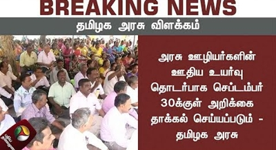 The report will be submitted by September 30 to the wage hike of government employees – Tamil Nadu Government