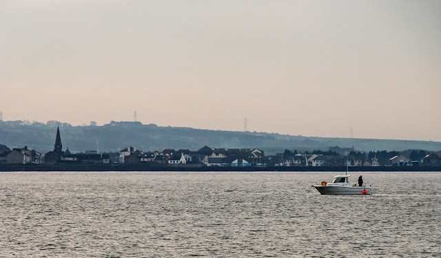 Photo of the other fishing boat from the marina that was out on the Solway Firth on Monday