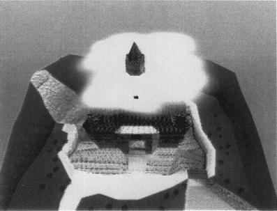 An overhead view of Princess Peach's original castle.