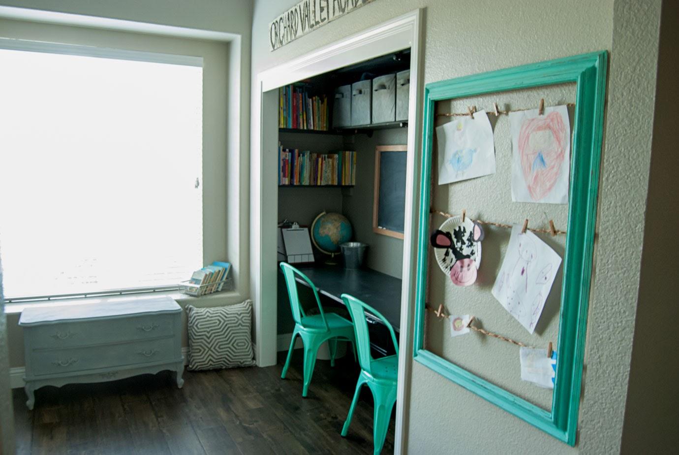 Closet Desk and Art Work Display Frame