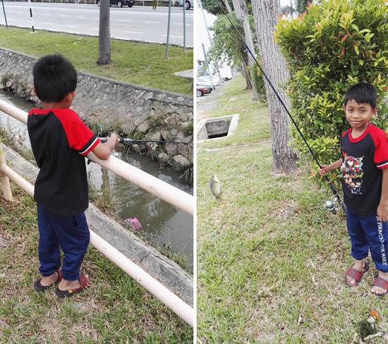 Budak Darjah Dua Lepas Gian Tepi Parit