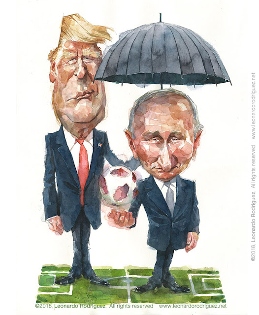 Editorial Illustration Helsinki Summit
