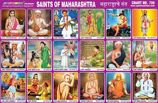 Saints of Maharashtra Chart