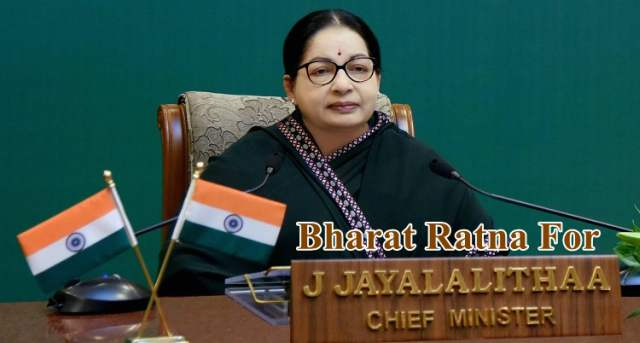 Tamil Nadu Govt to Recommend Bharat Ratna for Jayalalithaa