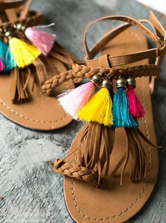 6 pretty DIY to customize your sandals