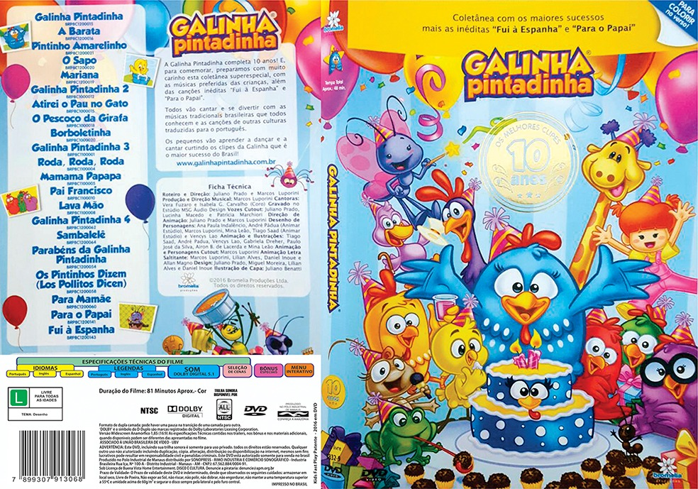 Galinha Pintadinha 10 Anos DVD-R