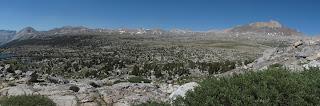 Blick über Humphreys Basin und Mount Humphreys
