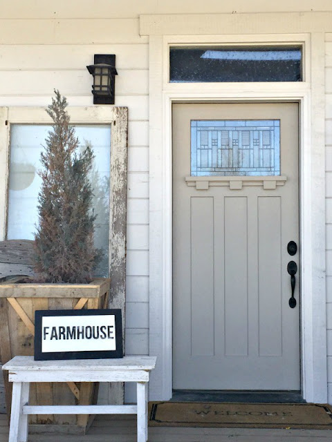 Farmhouse front door refresh for spring