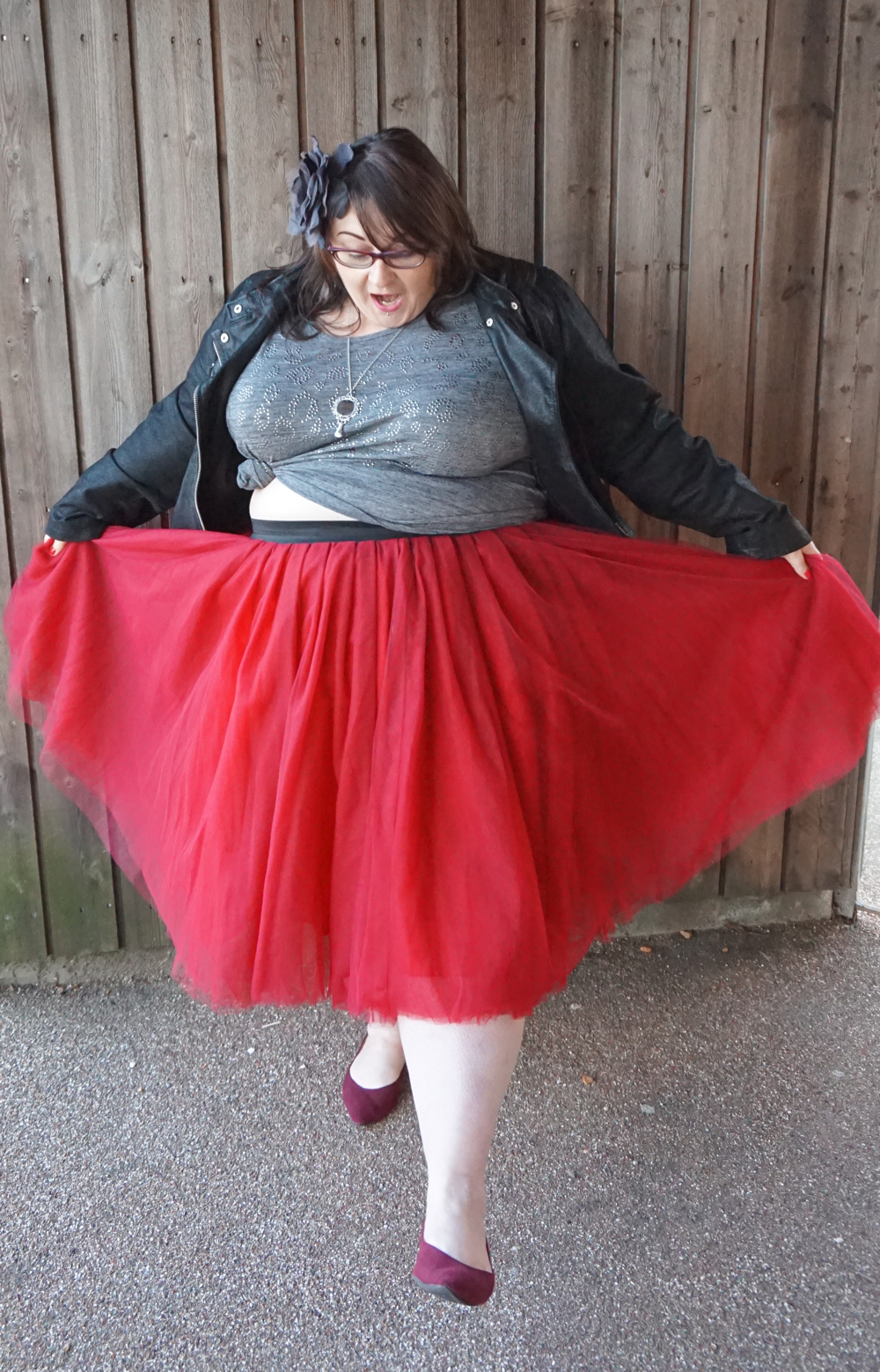 Society+ formerly Cool Gal Blue burgundy plus size tutu skirt by Society Plus Jessica Kane tulle fat Carrie Bradshaw