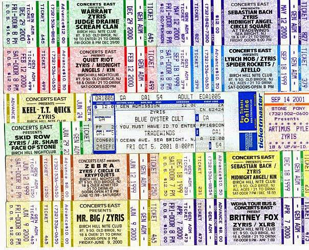 Tickets to local clubs