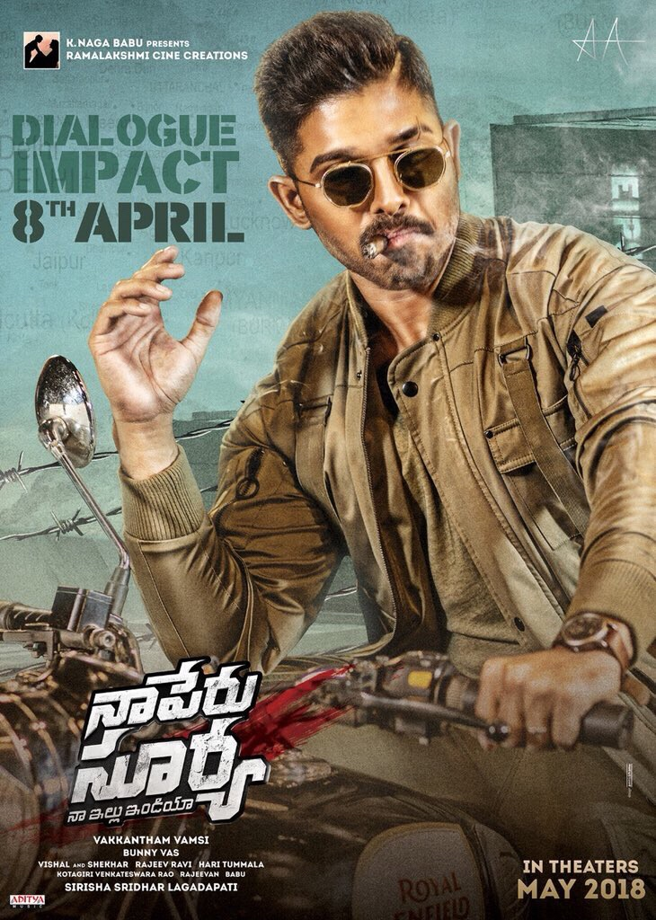 Naa Peru Surya, Naa Illu India (2018) Telugu 720p DVDScr x264  Line Audio 1.4GB