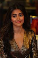 Pooja Hegde looks glamarous in deep neck sleevless short tight golden gown at Duvvada Jagannadham thank you meet function 173.JPG