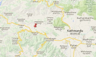 Earthquake epicenter map of Naubise, Dhading