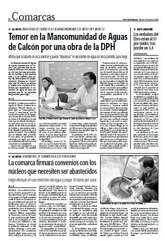 Fañanás: La comarca firmará convenios con los núcleos que necesiten ser abastecidos