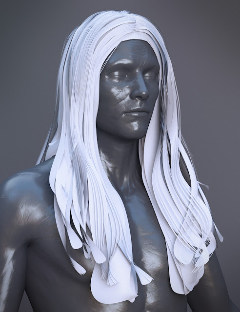 Wezor Hair for Genesis 3 Male